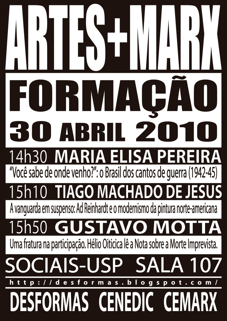 Cartaz formacao abril 2010
