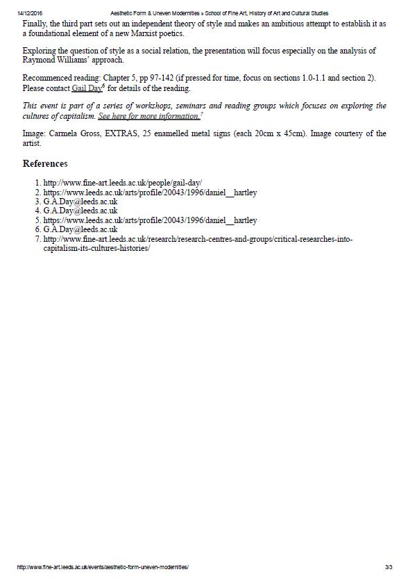 imagem site - programação Aesthetic Form & Uneven Modernities - p.3