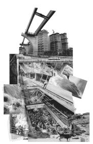 4. Fotomontagem da série REFUGOS, 2015-2016, impressão em vinil adesivo e chapa de poliestireno, 140x90