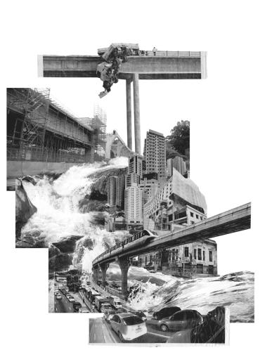 5. Fotomontagem da série REFUGOS, 2015-2016, impressão em vinil adesivo e chapa de poliestireno, 140x100